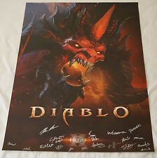 BlizzCon 2016 Official Diablo 3 III Signed Poster