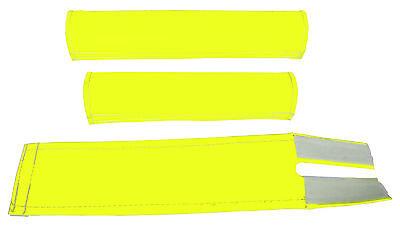 FLITE old school BMX padset foam racing pads BLANK BLANKS *USA MADE* NEON YELLOW