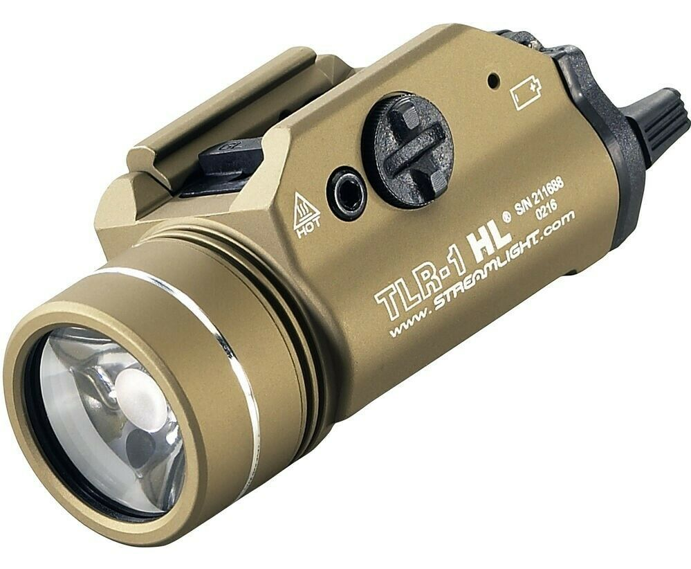 Streamlight 69266 TLR-1 HL Rail Mounted 1,000 Lumen C4 LED Weapon Light (FDE). Available Now for 144.95