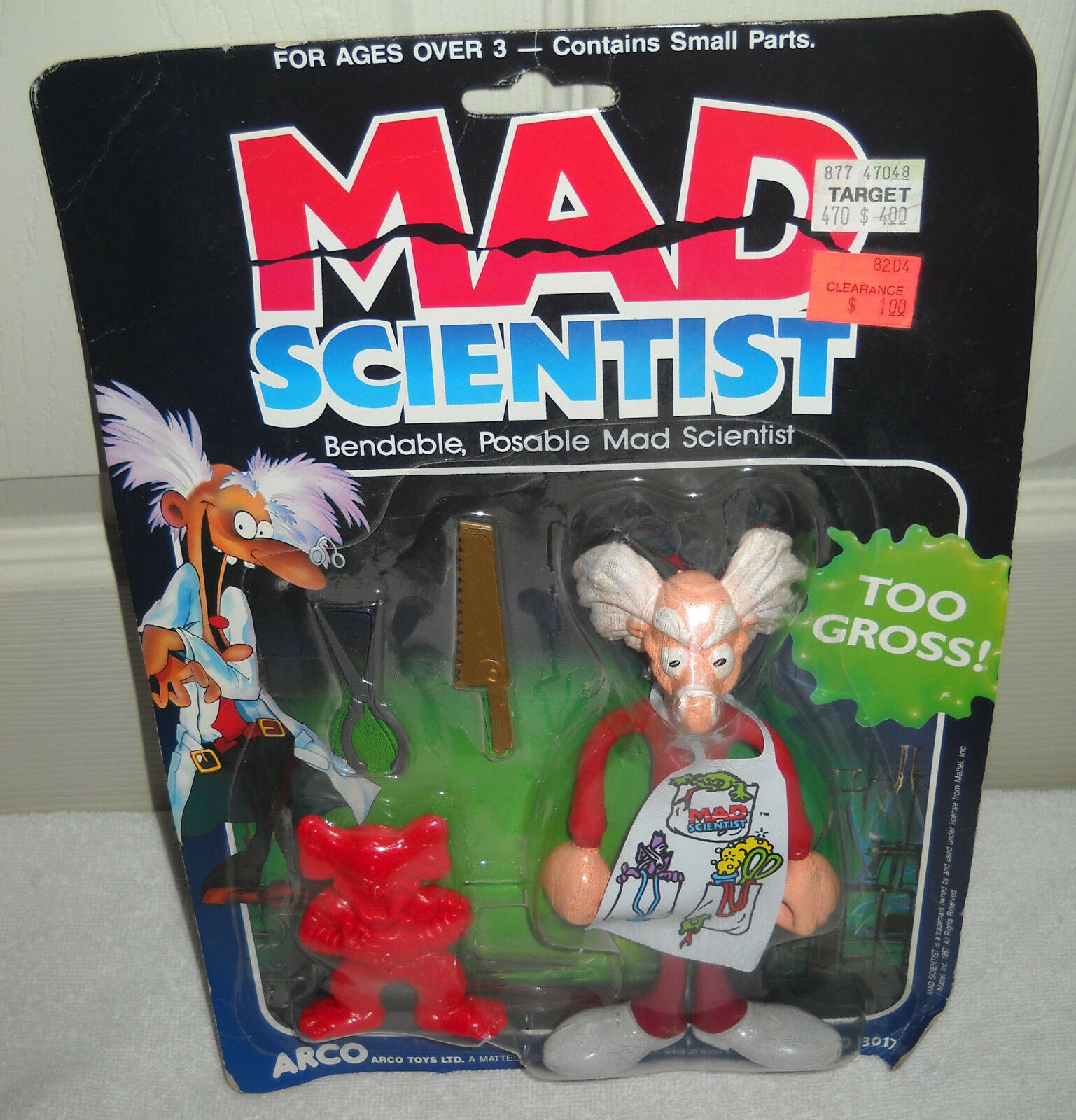 RARE NRFB Vintage Mattel Mad Scientist Bendable Posable Figure