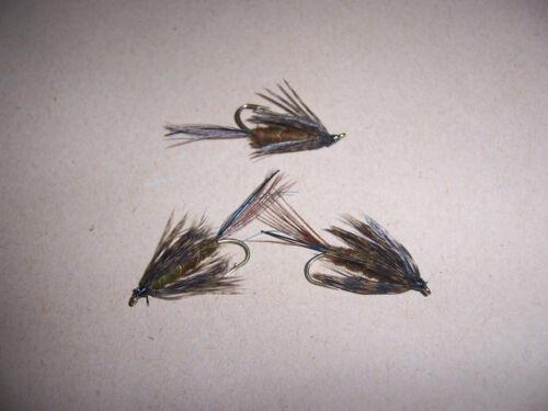 3 x ponderata Damigella Ninfa Blu Flash Trota Pesca Mosche Taglia 12 da Salmoflies
