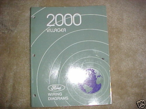 2000 Ford Villager Factory Original Wiring Diagrams