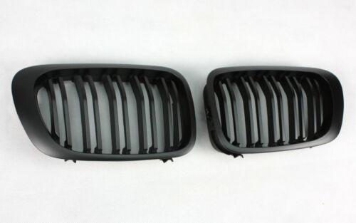 Calandre pour BMW E46 Cabriolet Coupé Noir Mat Noir Natte Doppelstreben