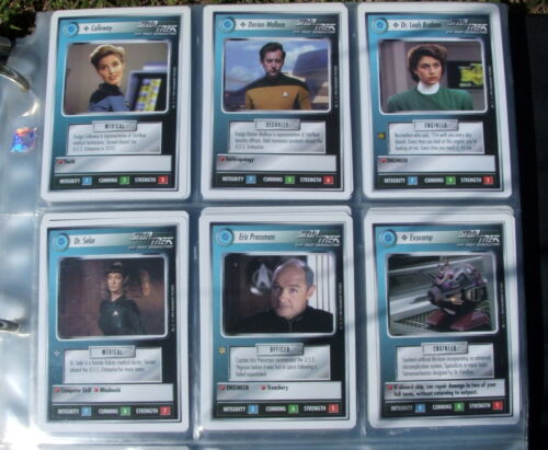 Lot Of 6 Star Trek The Next Generation Game Playing Cards Excellent Condition #2