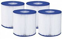 Pool Filter Cartridge Summer Waves 4.13 X 3.75 Type D Chlorine Swimming (4 Pack) on sale