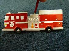 Rudolph & Me Fire Truck Christmas Ornament NEW with tag (o2500)