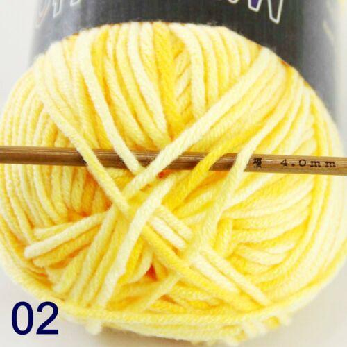 1Ball x50gr Cotton DK Baby Crochet Yarn Hand-dyed Wool Colorful Socks Knitting