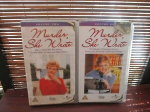 Murder-She-Wrote-Angela-Lansbury-two-VHS-Video-Tapes-Vol-1-amp-2