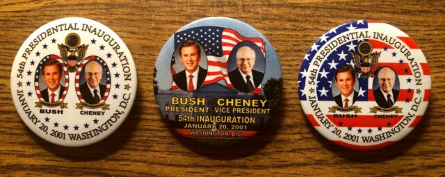 GEORGE W.BUSH PRESIDENT INAUGURATION VINTAGE POLITICAL BUTTONS PINBACK MINT LOT