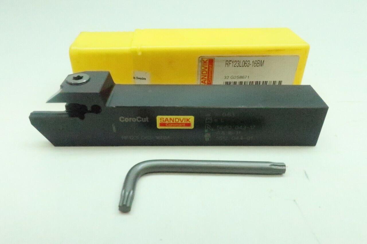 Sandvik Coromant RF123G07-1616C Steel CoroCut 41641 Shank Tool for Shallow Parting and Grooving Holder 0.14 Maximum Depth of Cut