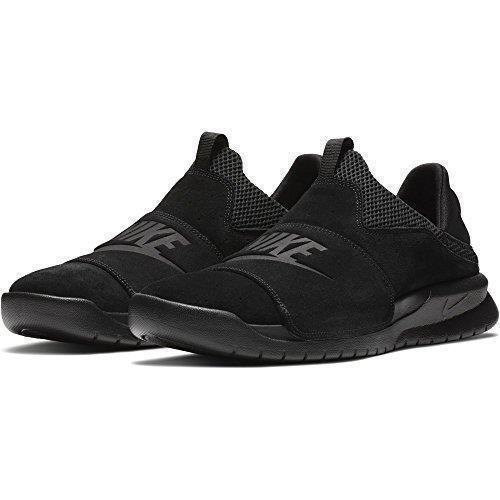 NIKE BENASSI SLP SLIP ON FOLD DOWN CONVERTIBLE MULE 882410 003 BLACK - SUEDE Black