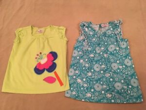 Hanna-Andersson-130-Tunic-Top-Lot-Turquoise-Floral-Green