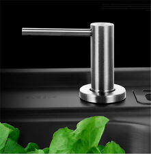 Stainless Steel Solid Pump Spot head Sink Soap Dispenser Bottle Kitchen 17OZ 1p