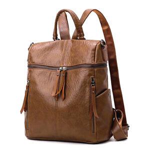 2668b9434aa8d4 Image is loading Women-Leather-Backpack-Satchel-Casual-Shoulder-School-Bag-