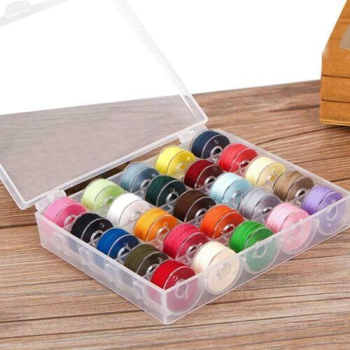 24//36 Color Bobbin Threads with Storage Case Box Pre-Wound Set Bobbins L9J2