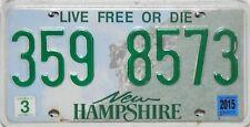 NEW Hampshire License Plate, TARGA ORIGINALE USA 359 8573 FOTO ORIGINALE