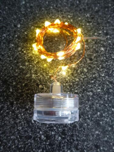 "WATERPROOF/""; 2 m LED Lichterkette /""Wasserdicht 20 LEDs in warmweiß"