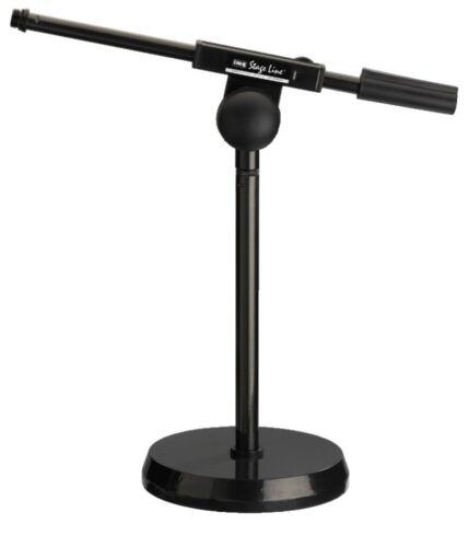 und Bodenstativ IMG Stage Line Tischstativ Mikrofon-Tisch MS-100//SW