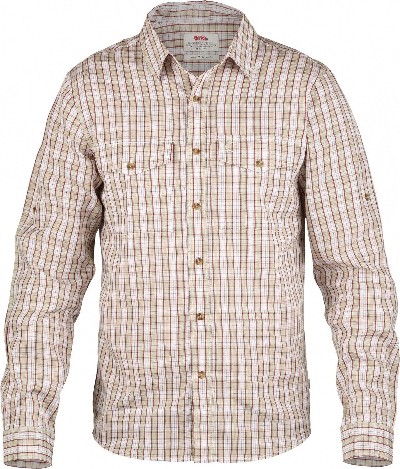 Fjäll Räven Abisko Cool Shirt LS Men, Langarm-Herrenhemd, limestone    Die Qualität Und Die Verbraucher Zunächst
