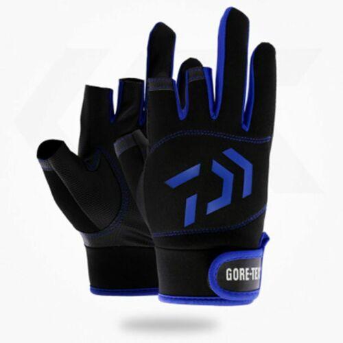 Fishing Gloves Outdoor Breathable Daiwa Fingers Waterproof Sport Anti Slip New