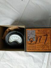 Vintage Westinghouse Electrical Meter Gauge Milliamperes 0 100 Ox 33 1164137 Box