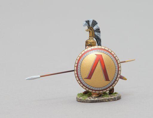 THOMAS GUNN SPA025A - Kneeling Spartan (Lambda Shield) Painted Metal