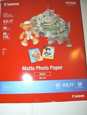Office Canon Matte Photo Paper 8.5 X 11 Inches 50 Sheets 7981a004 Supply Too