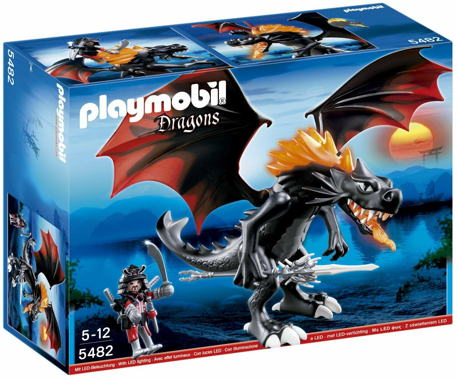 Playmobil 5482 Dragons Giant Battle Dragon with LED Fire BRAND NEW FREE P&P