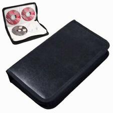 CD / DVD MAPPE WALLET AUFBEWAHRUNG TASCHE BOX CASE FÜR 80 BLUERAY, DVDs & CDs