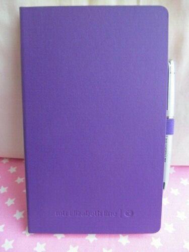 Elizabeth Line London Pen /& Purple Castelli Notebook 32 x 12cm Lines BRAND NEW
