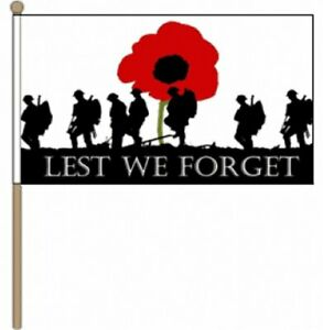 Lest-We-Forget-Army-9-034-x-6-034-Hand-Waving-Flag