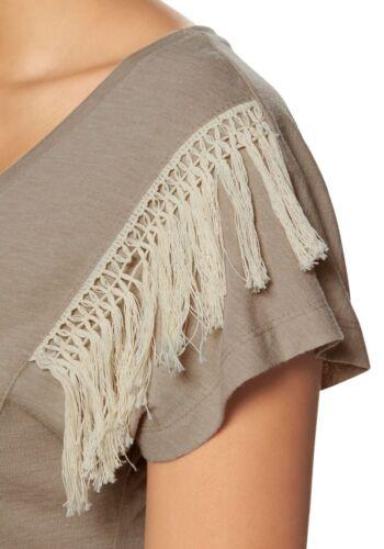 KP 39,99 SALE/%/%/% CHILLYTIME NEU!! Sand Fransen-Shirt