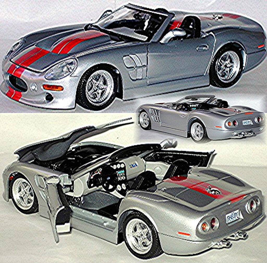 servicio considerado Shelby Series 1 - 1998-2005 Plata Plata Plata Plata Metálico 1 18 Bburago  artículos de promoción