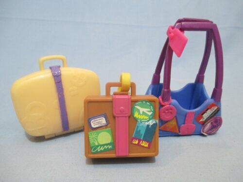 Littlest Pet Shop Lot 3 Random Travelling Bags Carrier Luggage Authentic LPS