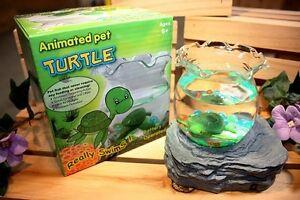 Animated pet aquarium magnetic fake turtle bowl magic for Fake fish tank with moving fish