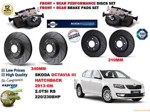 para-Octavia-2-0-TDI-HB-2013-DELANTERO-Y-Trasero-Rendimiento-Juego-discos-freno