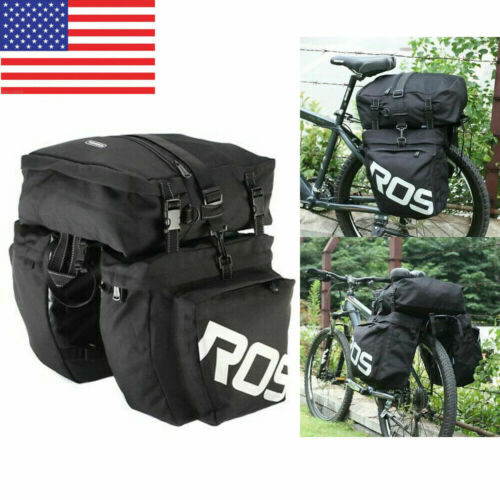 ROSWHEEL 3 In 1 Road MTB Mountain Bike Bicycle Pannier Rear Seat Trunk Bag H1V0
