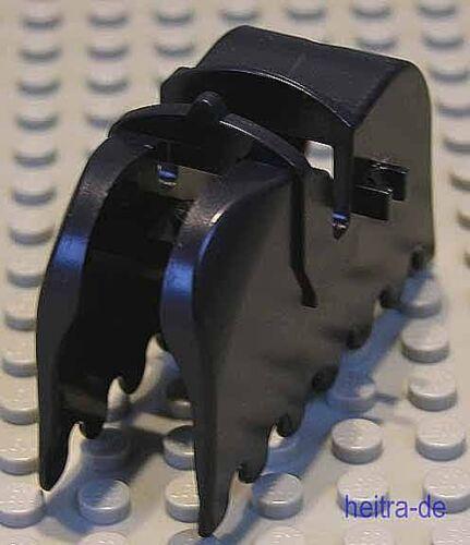 Pferdedecke schwarz mit 2 Clips OHNE Aufdruck a26 LEGO Ritter 2490 NEUWARE