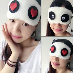 Hot-Panda-Sleeping-Face-Eye-Mask-Blindfold-Shade-Travel-Sleep-Cover-White
