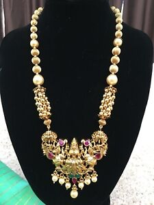 Antique South Indian Traditional Imitation Temple Jewellery Haram