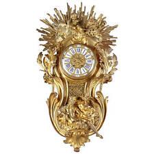 A Large French Ormolu Bronze Cartel Clock Wall Clock