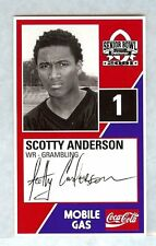 SCOTTY ANDERSON 2001 SENIOR BOWL GRAMBLING STATE UNIVERSITY TIGERS ROOKIE