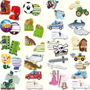 Einladungskarten-fuer-Kindergeburtstag-amp-Mottoparty-MEGA-AUSWAHL-Kinder-Party