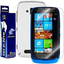 ArmorSuit MilitaryShield Nokia Lumia 610 Screen + White Carbon Fiber Skin! New!