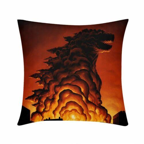 King Of monstro Godzilla imprime Sofá Carro Decorar Fronha Almofada Cama Cintura