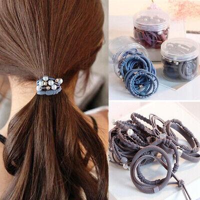 24Pcs Women Girls Hair Tie Ponytail Holder Hair Rope Elastic Rubber Band Fashion