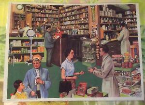 Affiche-Set-de-table-Pedagogique-42-x-30cm-Apothicairerie-Apothicaire-Pharmacie