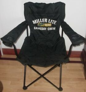 Phenomenal Details About New Miller Lite Canvas Lawn Chair W Dual Drink Holders Nip Local Nyc Pick Up Theyellowbook Wood Chair Design Ideas Theyellowbookinfo