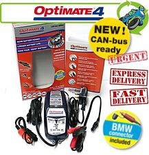 New Optimate 4 inc BMW Connector CAN-bus edition 12V Battery Charger Motorcycle