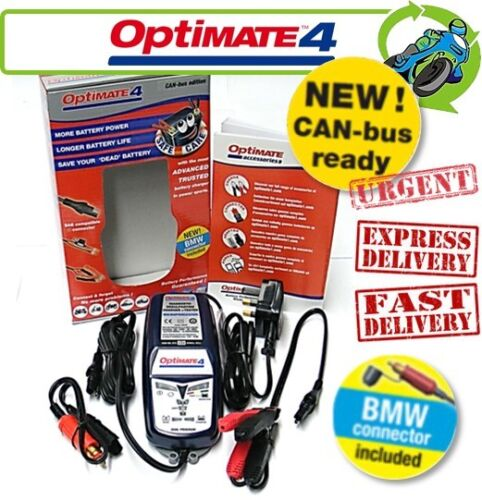 New Optimate 4 (inc BMW Connector) CAN-bus Compatible 12V Battery Charger